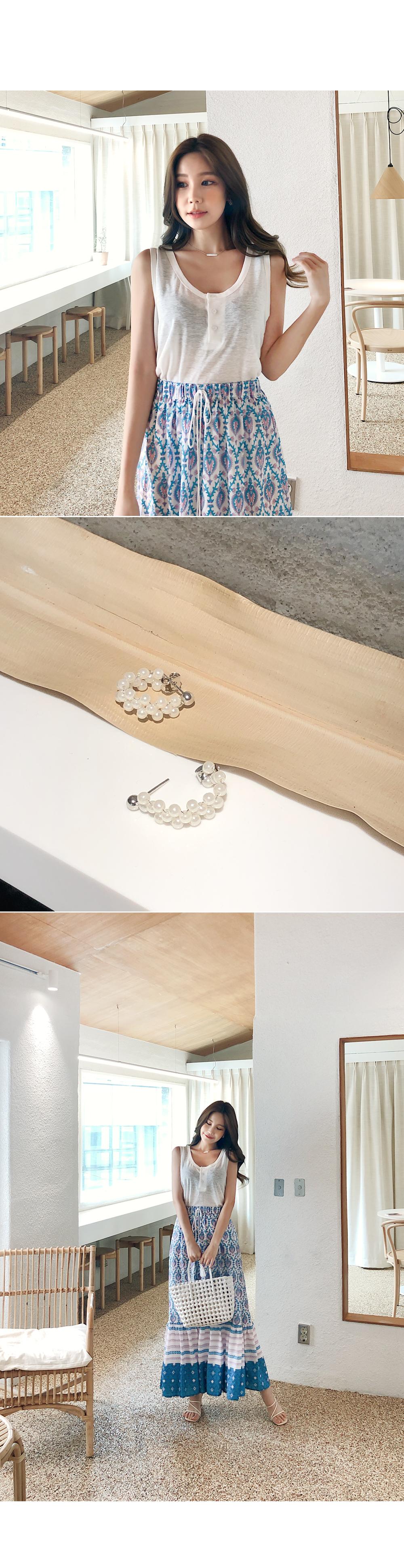 Pearl-filled ring earrings