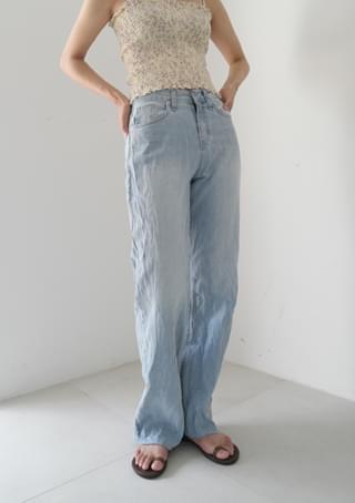 rimple point denim pants