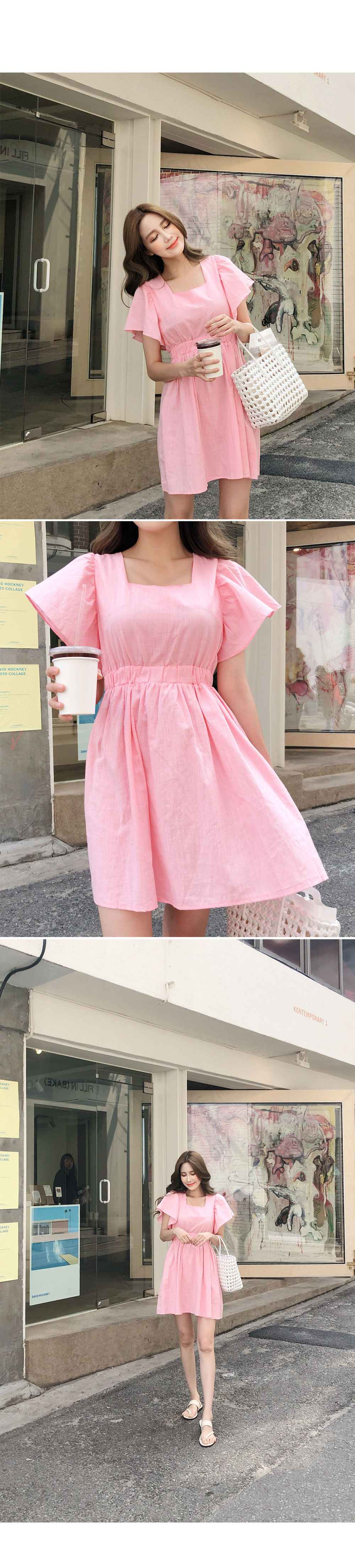 Wing pit sleeve dress