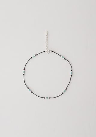 point straw ankle bracelet
