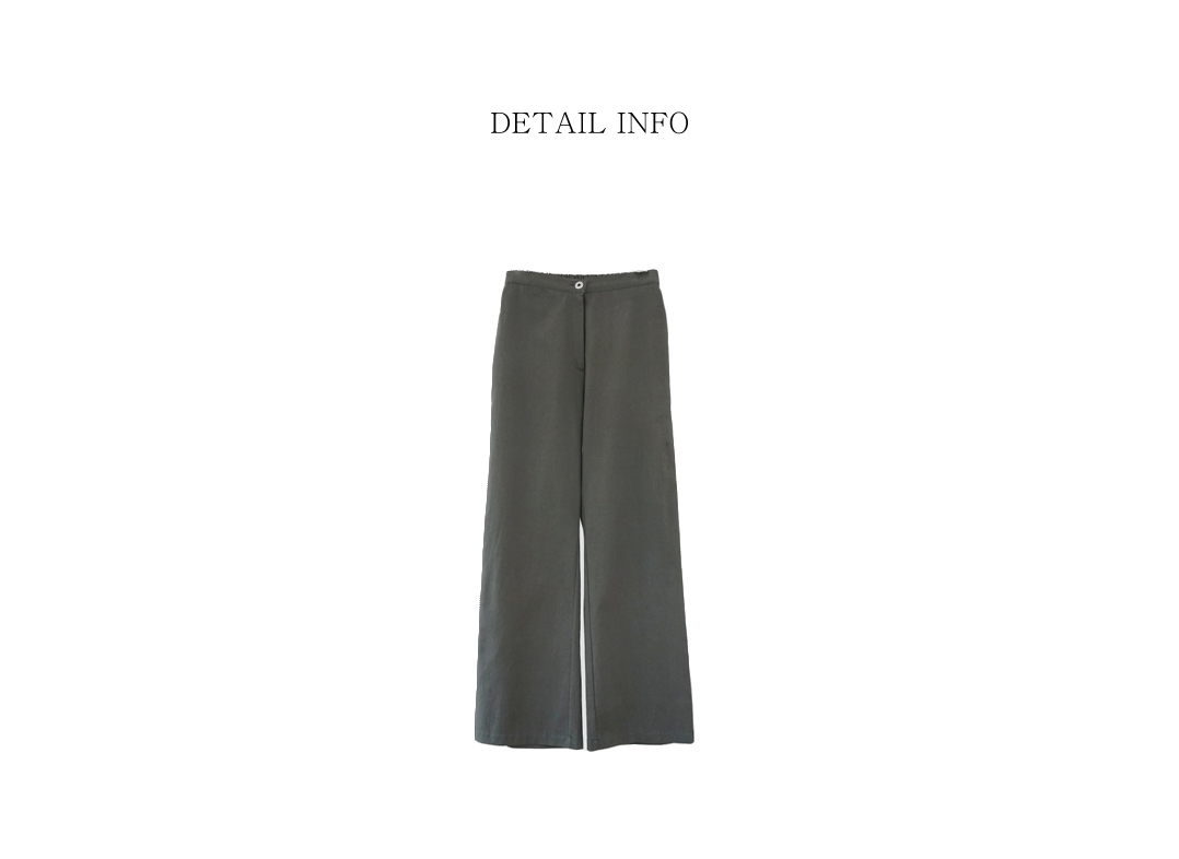 patch point washing banding pants (charcoal)