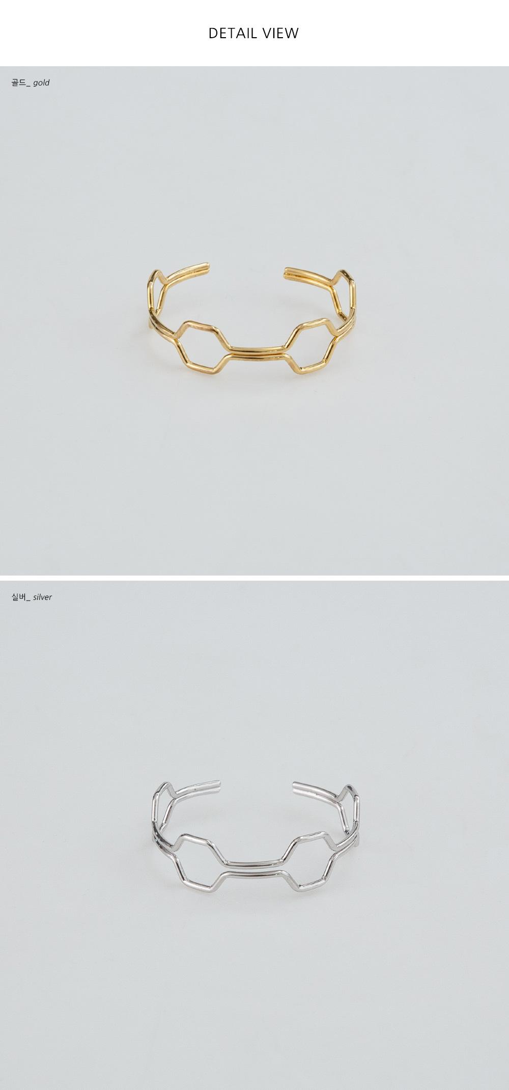 hexagon shape point bracelet