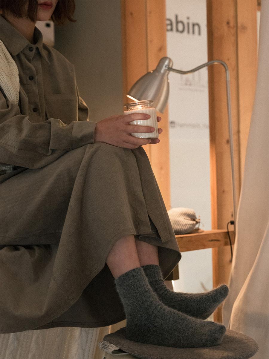 golgi angora socks