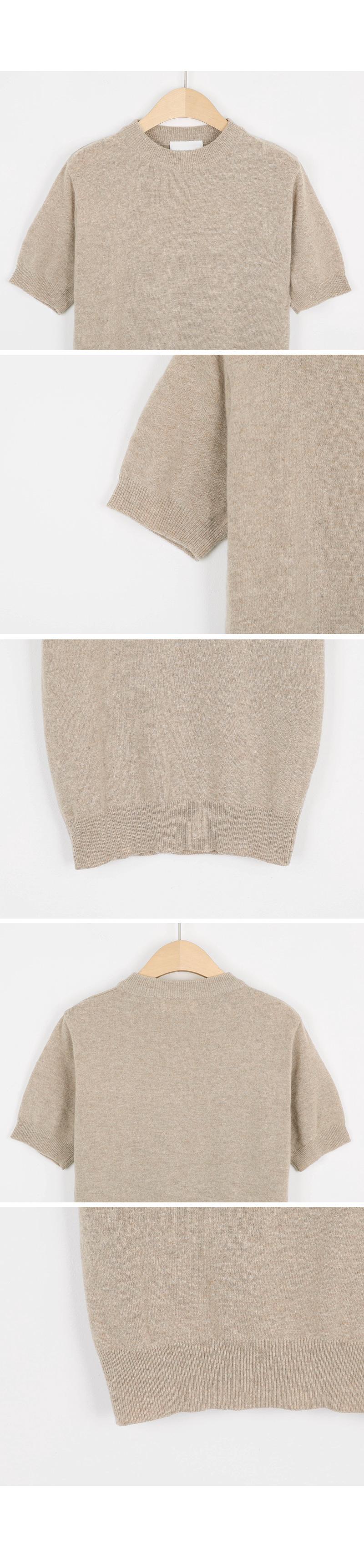 Short sleeve knit hem