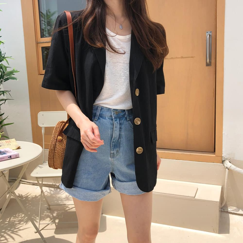 Day Linen Short Sleeve Jacket