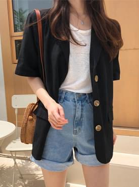 Day Linen Short Sleeve Jacket