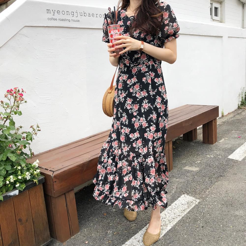 Black Rose Long Dress