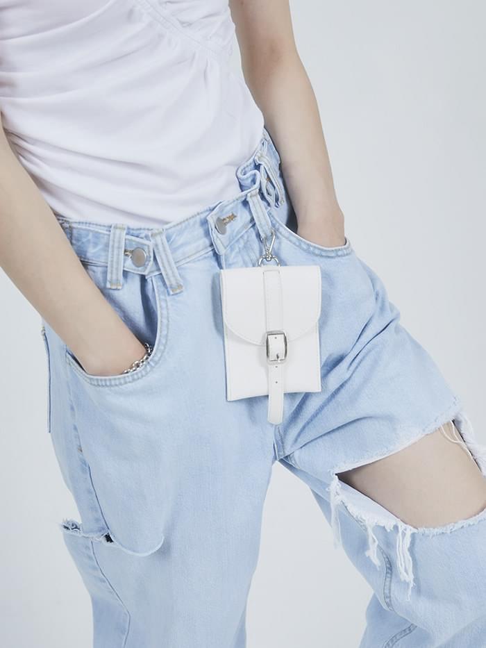 leather card case hook wallet (4 color)