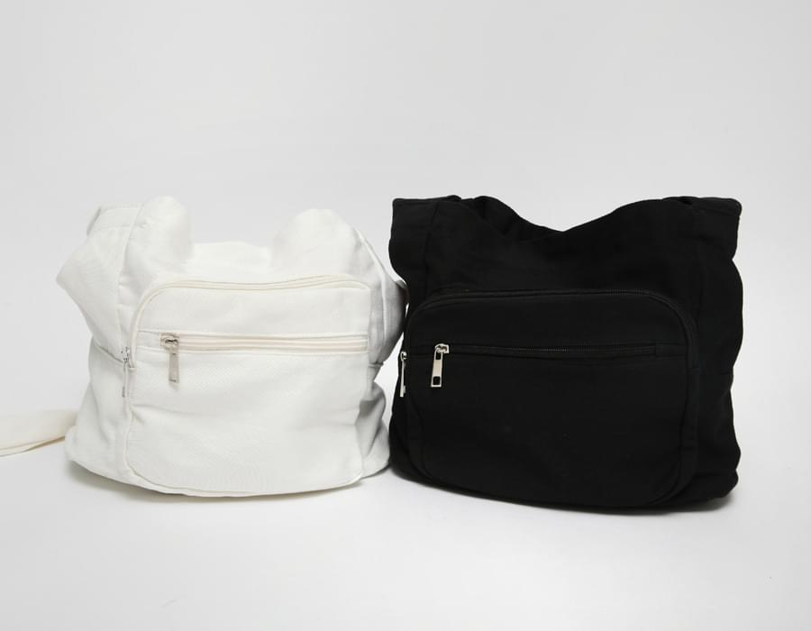 Trip pocket cotton bag_N