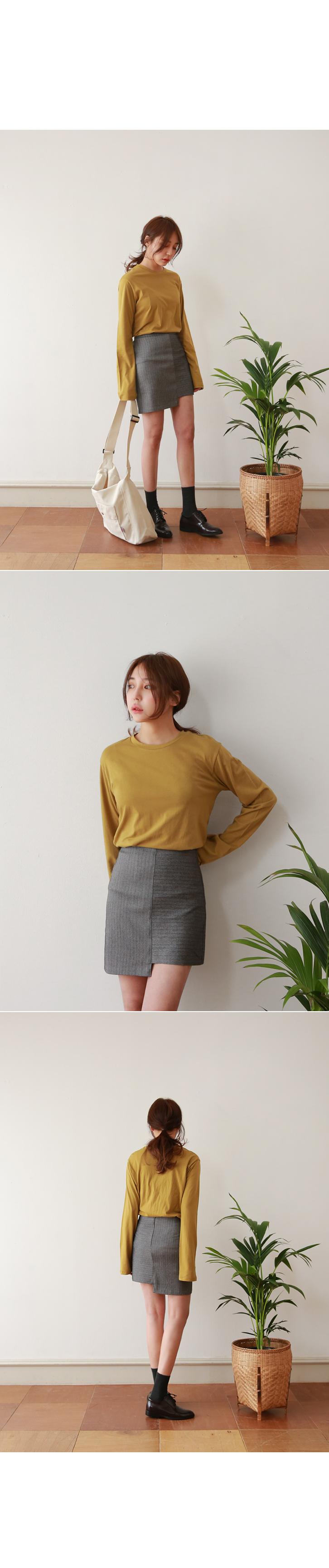 Unbalanced mini skirt