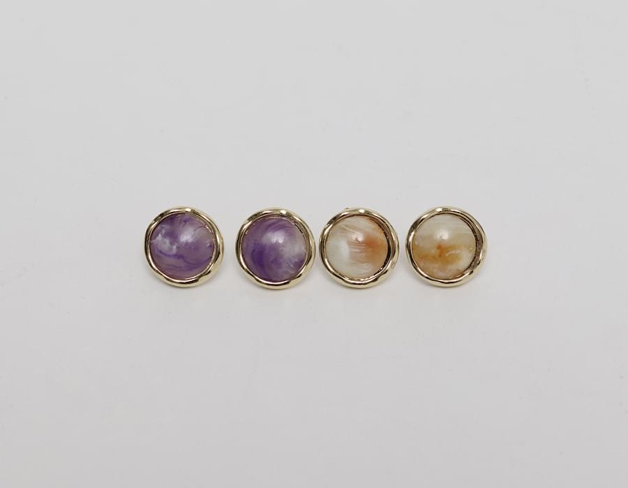 Bijou marble pattern earring_J