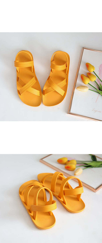 Non-El Jelly Sling Back Sandals 1cm