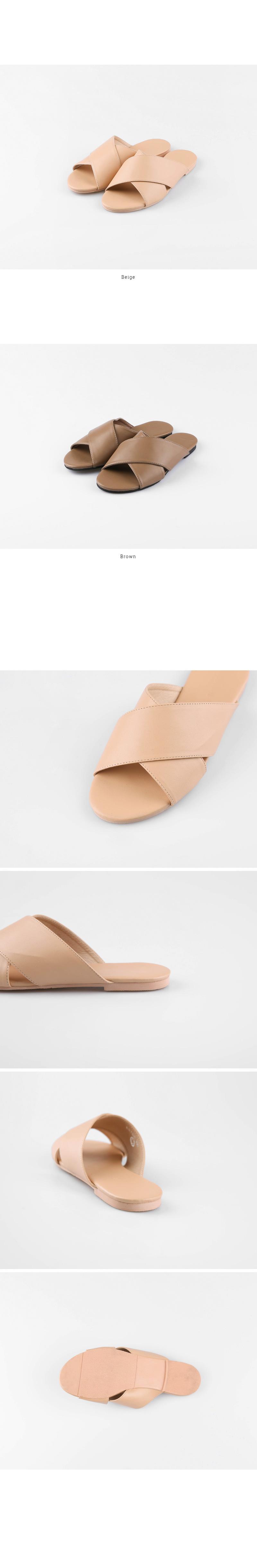 Cross strap slippers