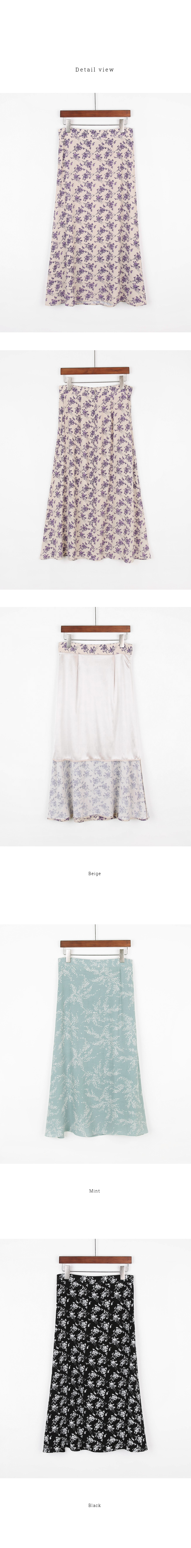 Marlla Flower Long Skirt
