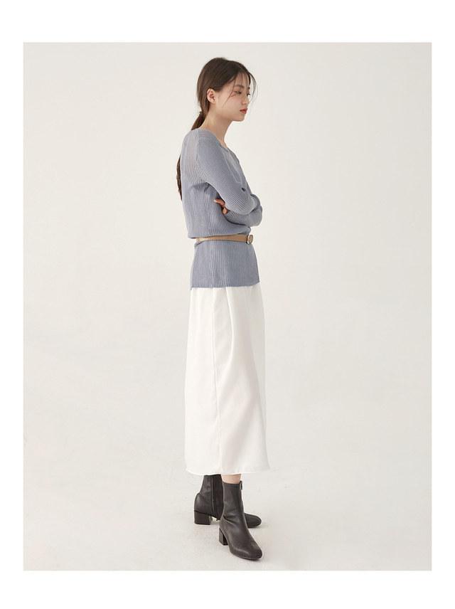 wear deep see-through knit
