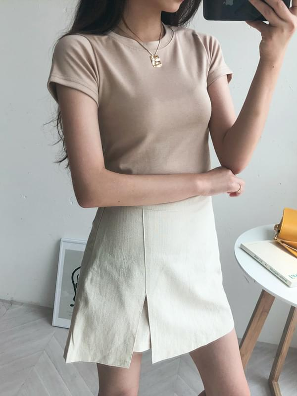 Slim cropped shirt