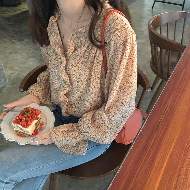 Sherbet frilly blouse