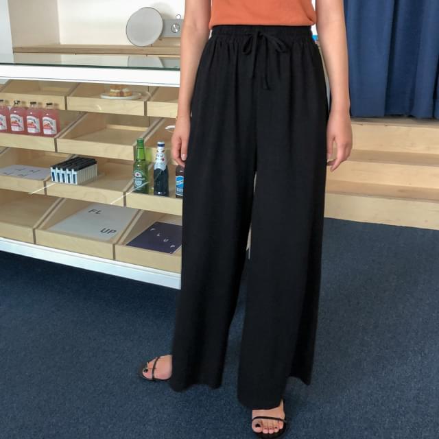 9-length wide pants