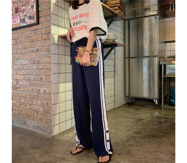 Side line track pants