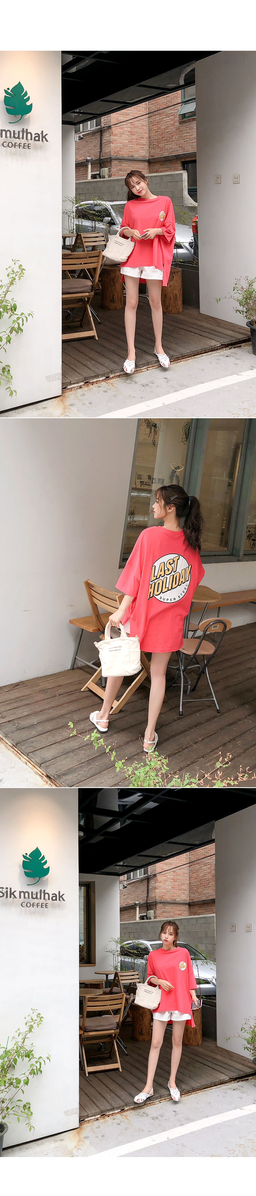 Boxy tee polo shirt