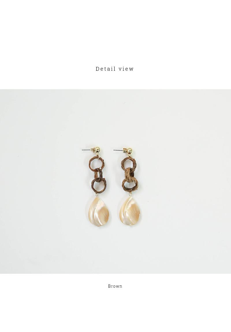 Wood Marble Drop Earrings