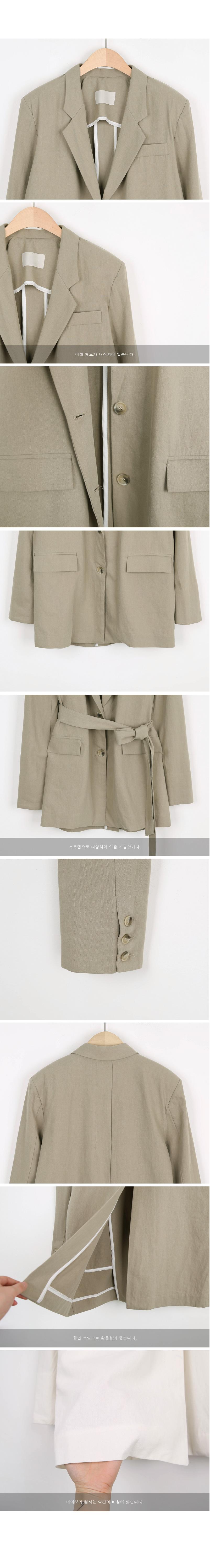 Linen strap jacket