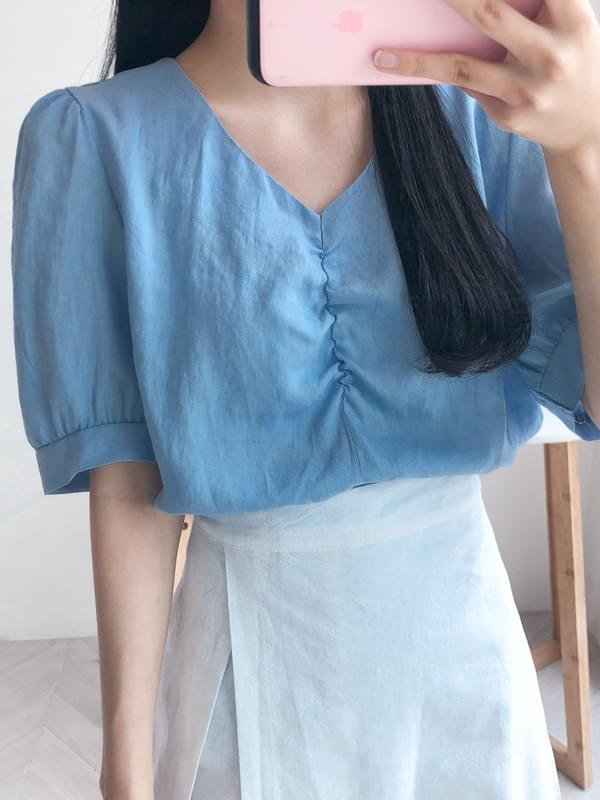 Front shearing blouse