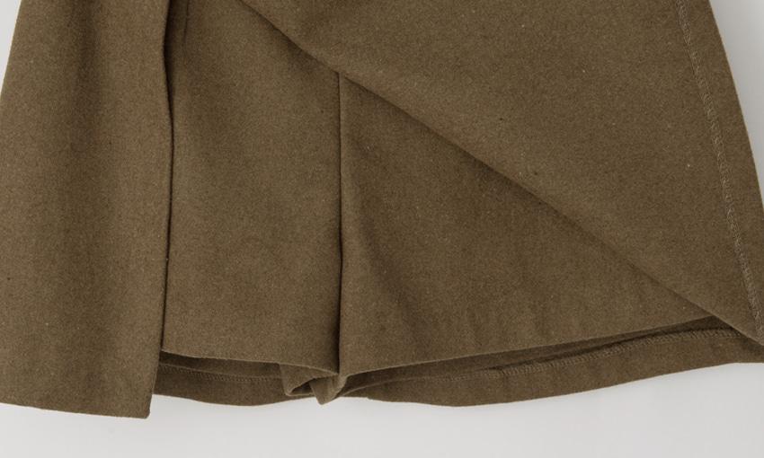Wool slit skirt pants