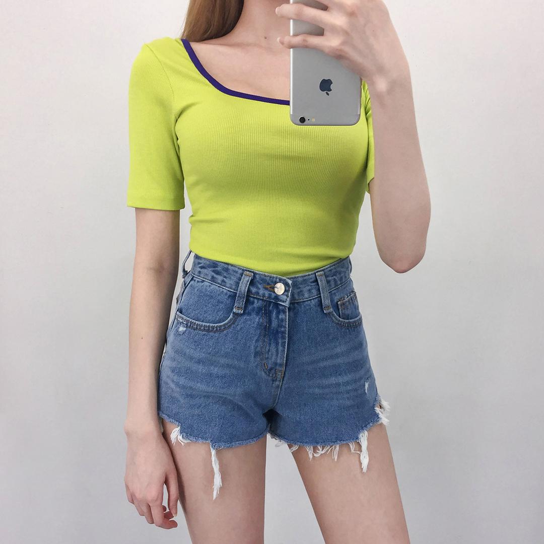 527 denim shorts