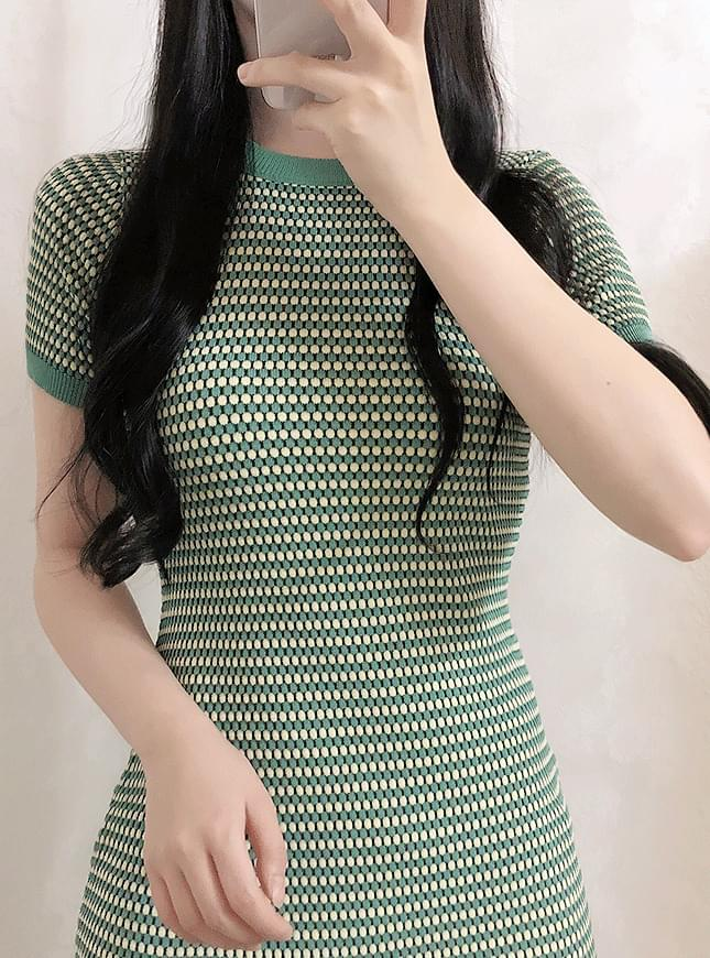 Green Tea Slim Dress