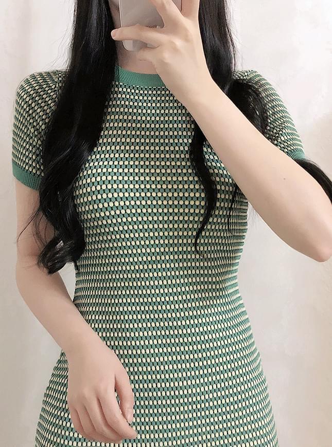 Green Tea Slim Dress