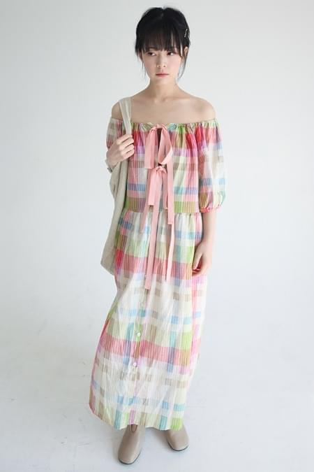 vintage colors coordination dress