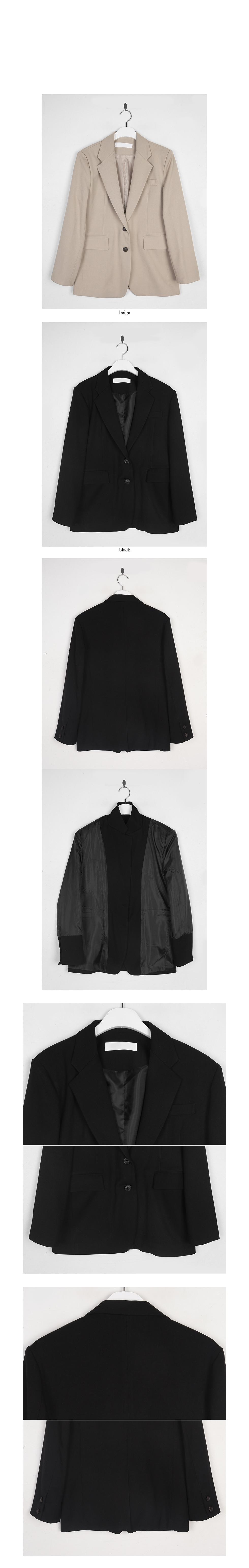 cotton 2-button single jacket