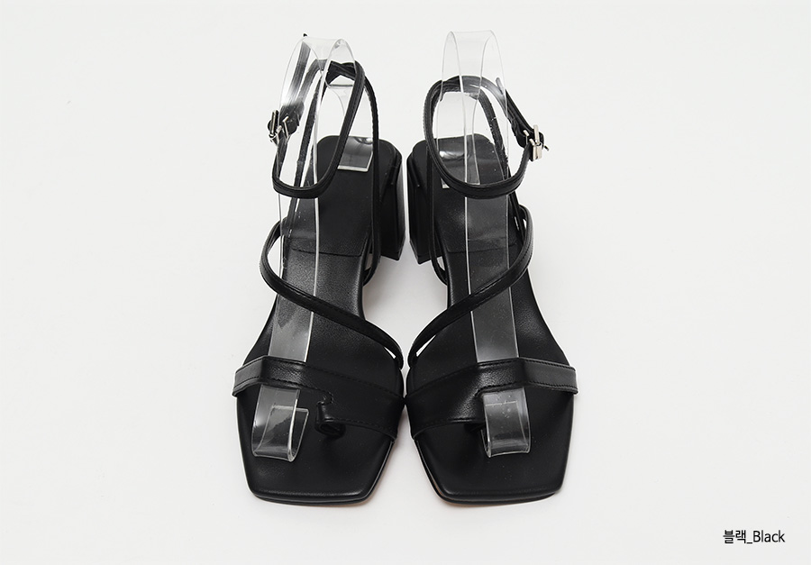 Toe middle heel sandal_K