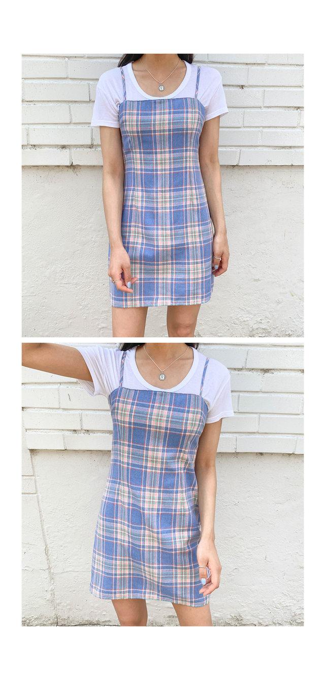 Check Merry Mini Dress