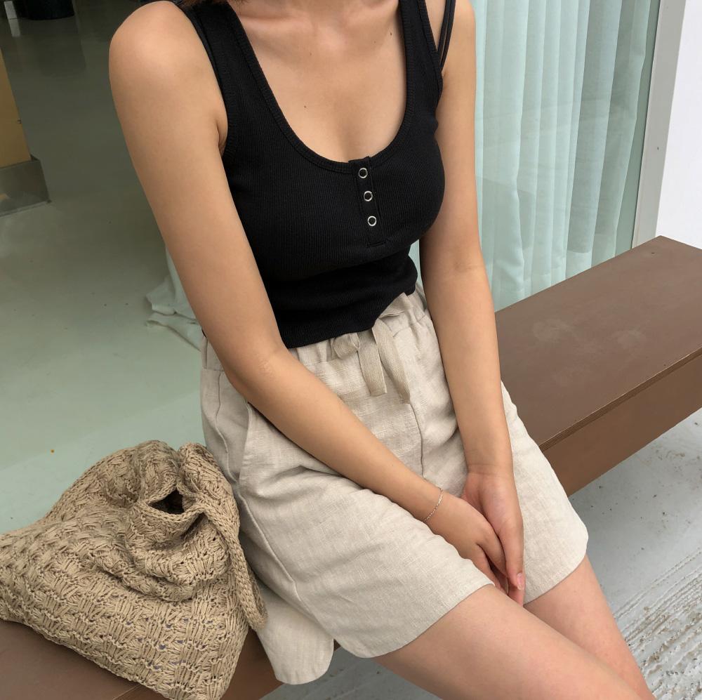 golgi button crop sleeveless