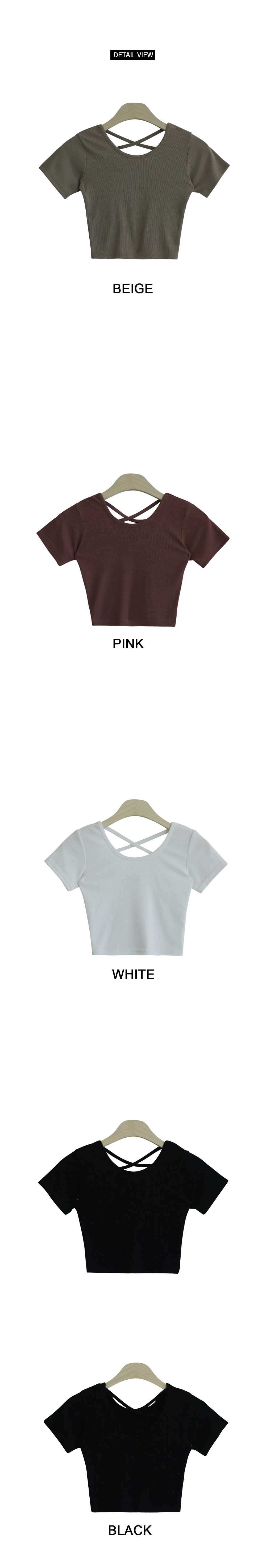 Cropped short sleeve polo strap X