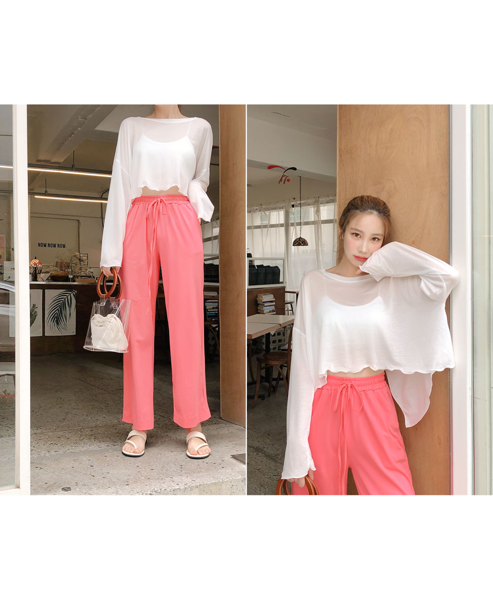 In the summer lightly T + Pants SET