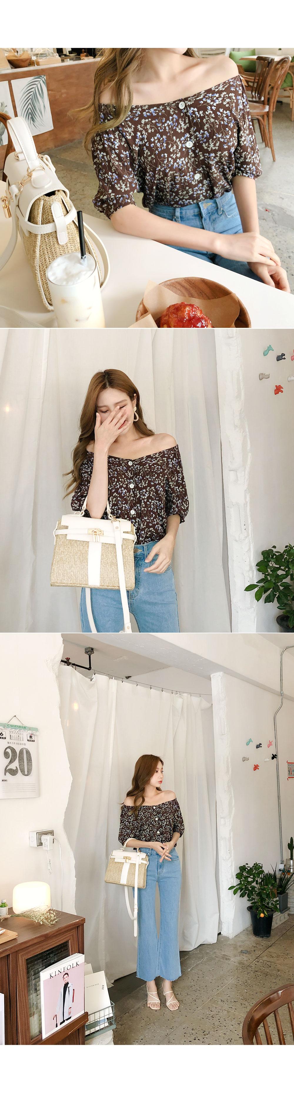 Banded flower blouse