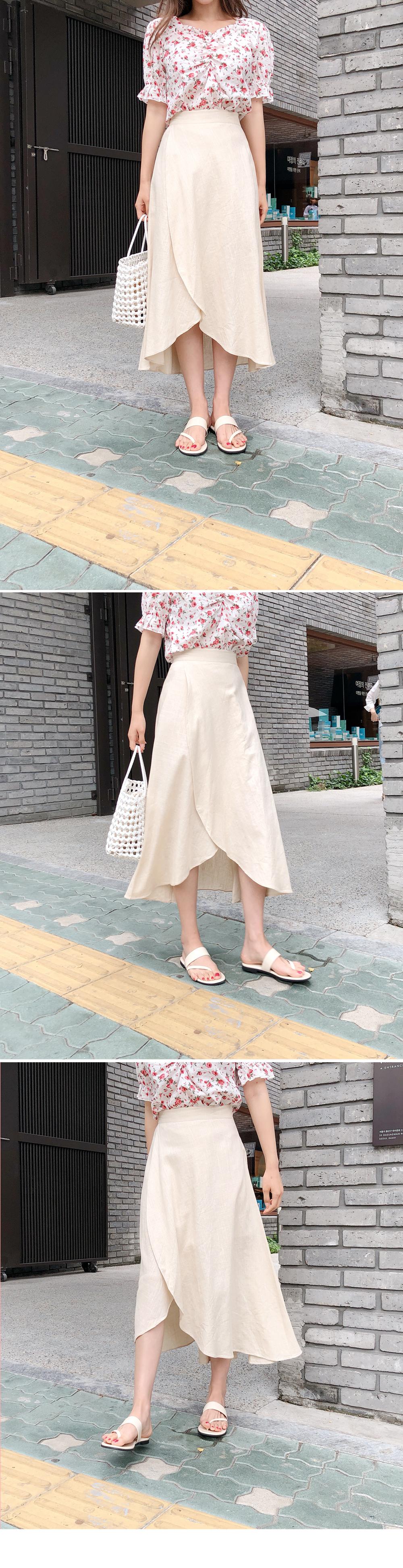 Round front skirt