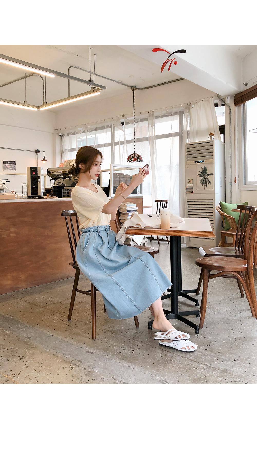 Comfortable denim skirt