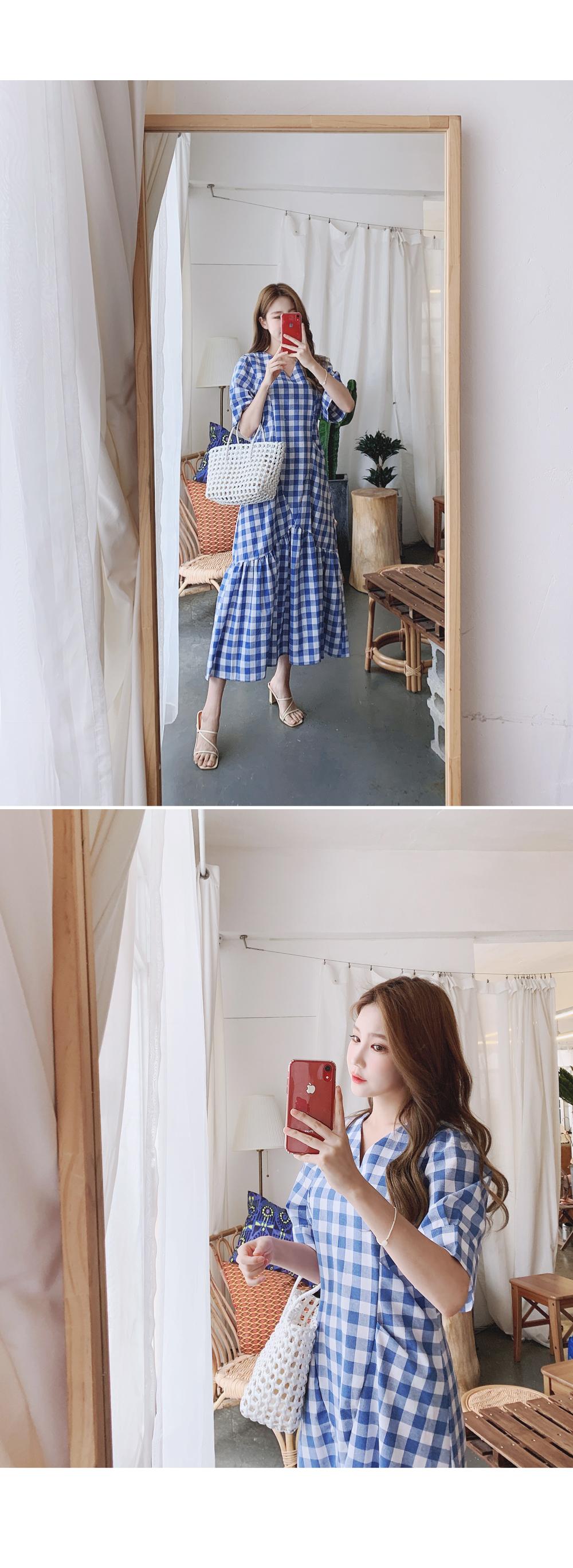 Daily check dress