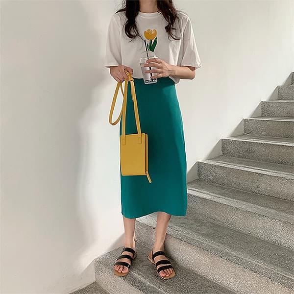 Clay Midi Skirt