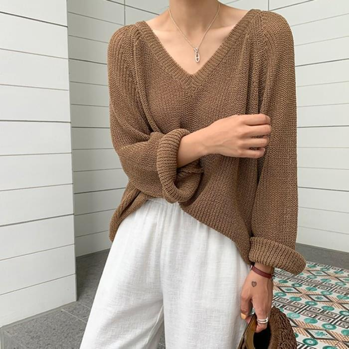 Yuri Lori V neck Summer knit