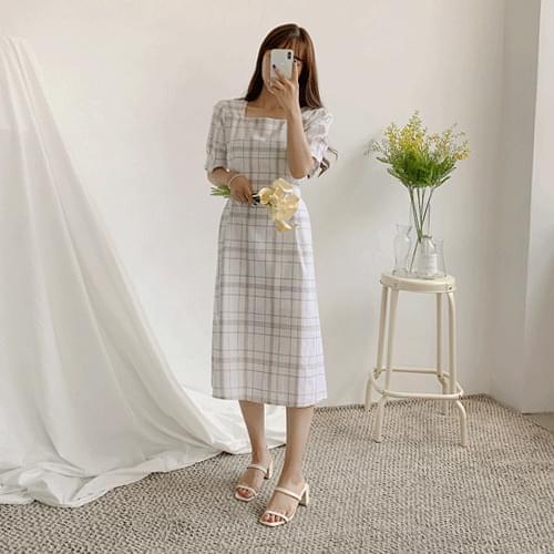 Rishi Square Check Dress