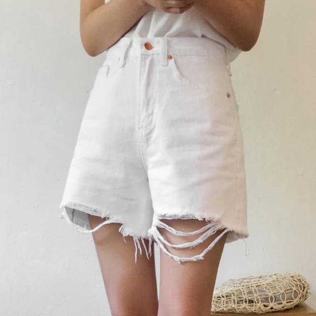 Vintage Damage Cotton Short Pants