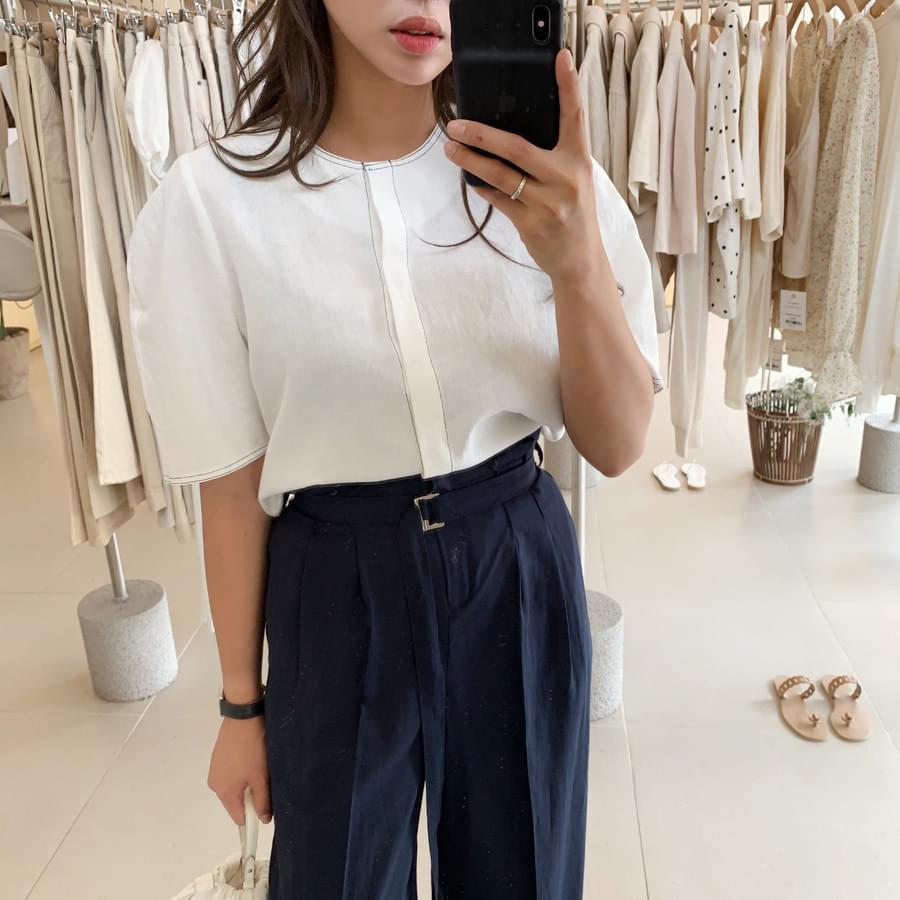 Stitch linen blouse