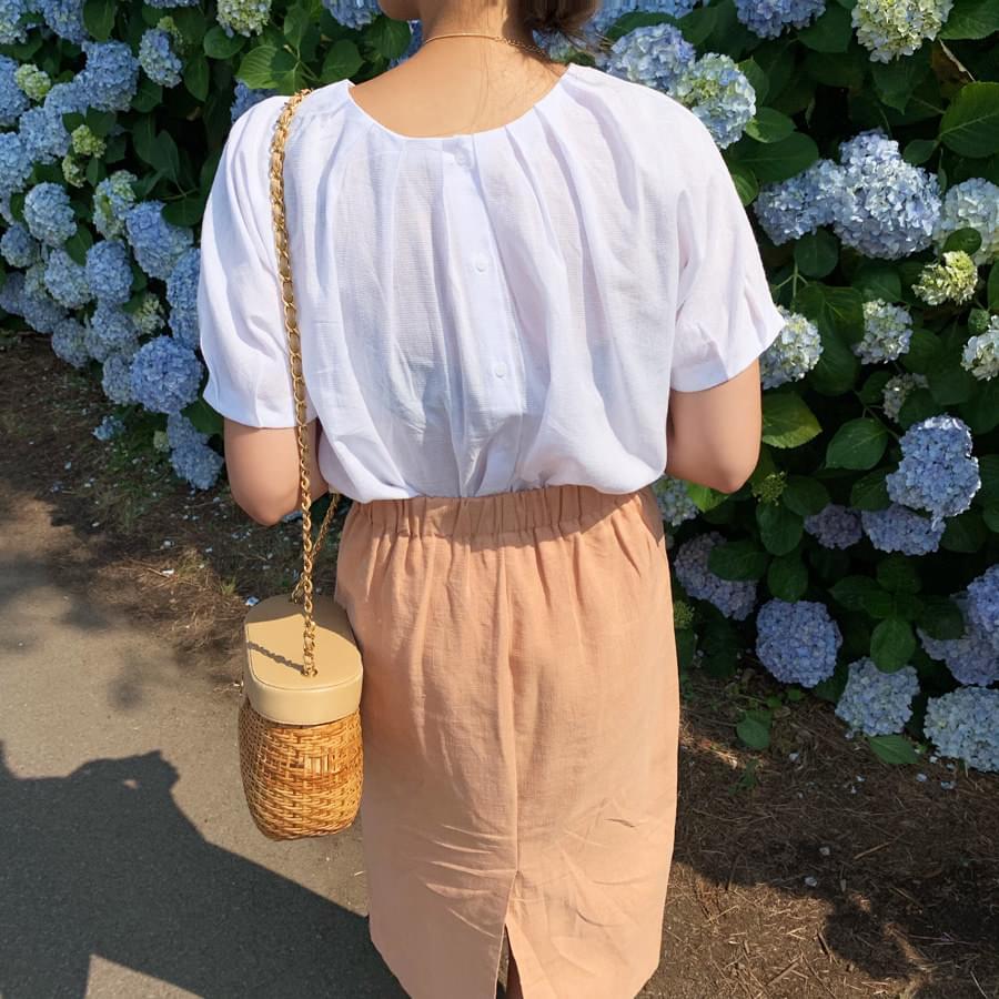 Pleat blouse