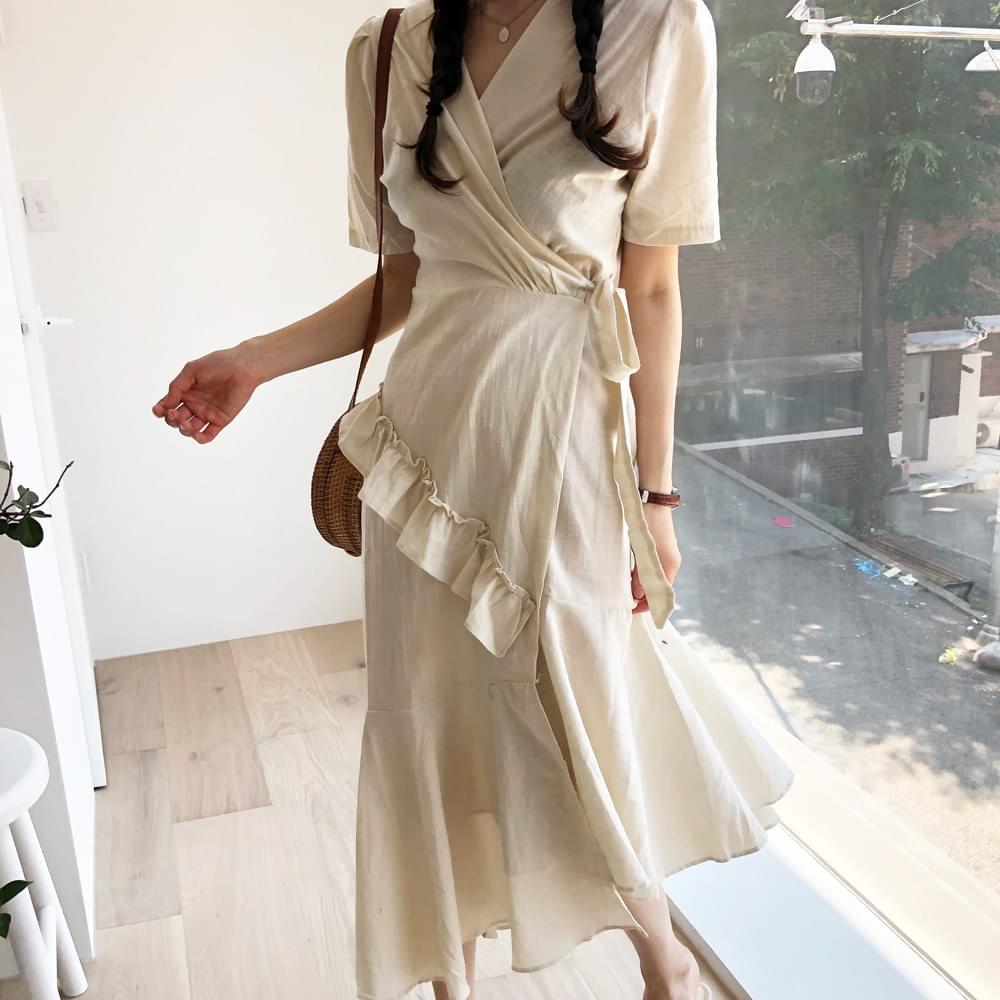 Love linen wrap dress