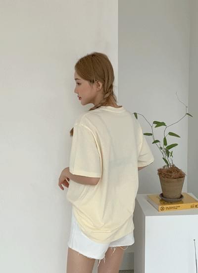 Cumo lettering cotton short sleeve tee